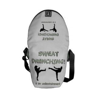 Sweat Drenching Kickboxing! is an understatement Messenger Bag