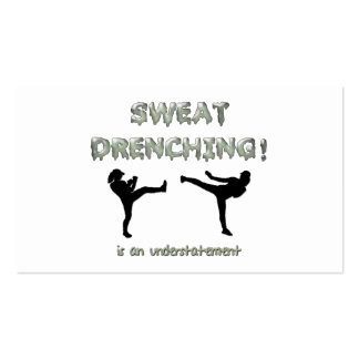 Sweat Drenching Kickboxing! is an understatement Pack Of Standard Business Cards