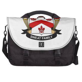 Sweat Family Crest Laptop Messenger Bag