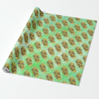 Sweat Heart Gold Mint Green Black Glam Packaging Wrapping Paper