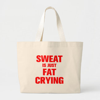 sweat-is-just-fat-crying-ak-red.png jumbo tote bag