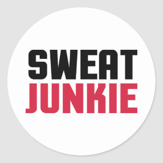 Sweat Junkie Gym Quote Classic Round Sticker