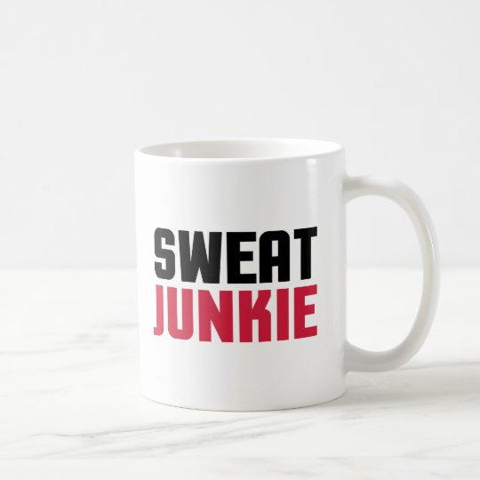 Sweat Junkie Gym Quote Coffee Mug