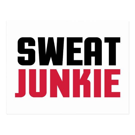Sweat Junkie Gym Quote Postcard