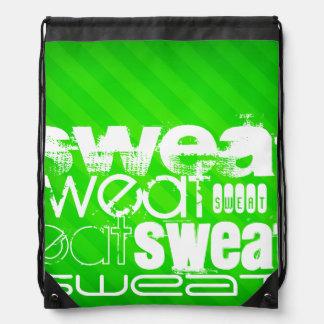 Sweat; Neon Green Stripes Rucksack