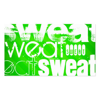 Sweat; Neon Green Stripes Pack Of Standard Business Cards