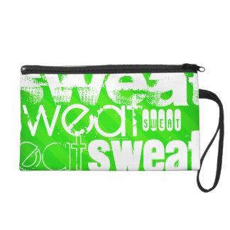 Sweat; Neon Green Stripes Wristlets
