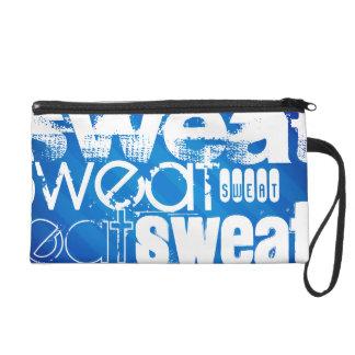Sweat; Royal Blue Stripes Wristlet Clutches