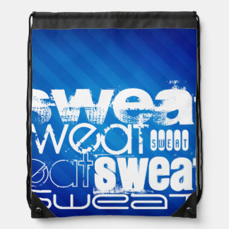 Sweat; Royal Blue Stripes Backpacks