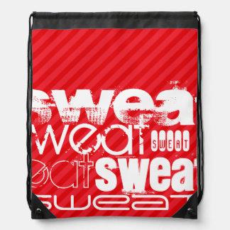 Sweat; Scarlet Red Stripes Rucksacks