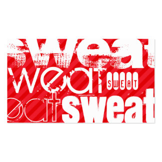 Sweat; Scarlet Red Stripes Pack Of Standard Business Cards