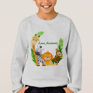 Sweat Shirt Boy Animals