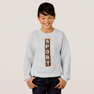 SWEAT SHIRT   HANES   CHOCOLATE SPORT