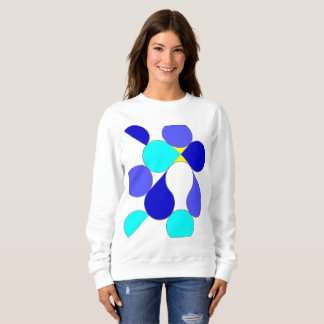 Sweat shirt woman reason geometrical blue and