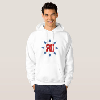 Sweat with basic hood white SPORT FRANCE Hoodie
