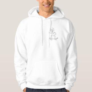Sweat with hood alien white skator hoodie
