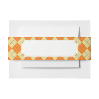 Sweater Background Invitation Belly Band