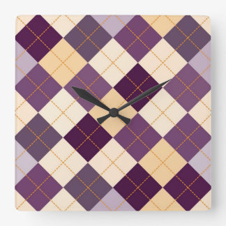 Sweater Background Square Wall Clock