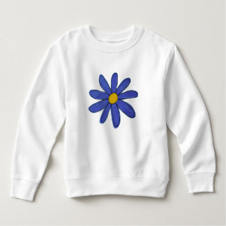 Sweater blue flower
