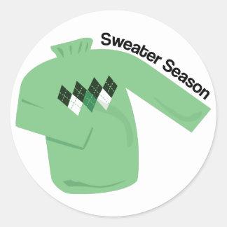 Sweater Season Round Sticker