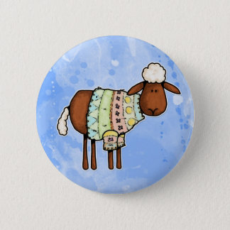 sweater sheep 6 cm round badge