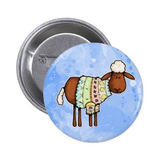 sweater sheep 6 cm round badge