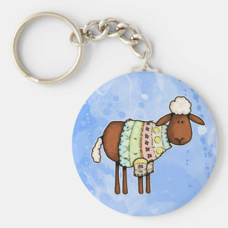 sweater sheep key ring