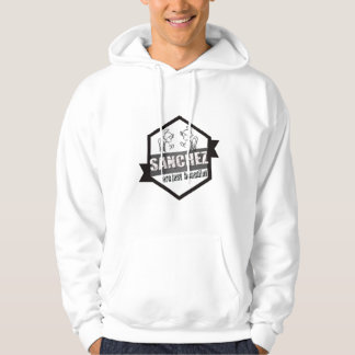 Sweater shirt with basic hood for man