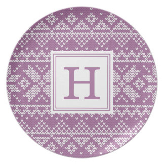 Sweater Weather | Monogram Holiday Plate