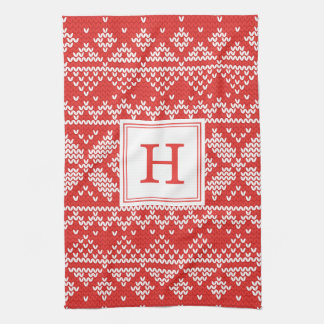 Sweater Weather | Monogram Holiday Tea Towel