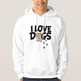 SWEATERS men I love dogs Pullover