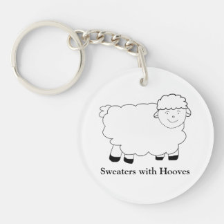 Sweaters With Hooves Double-Sided Round Acrylic Key Ring