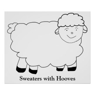 Sweaters With Hooves Poster