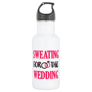 Sweating for the Wedding funny workout 532 Ml Water Bottle
