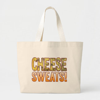 Sweats Blue Cheese Large Tote Bag