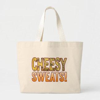 Sweats Blue Cheesy Large Tote Bag