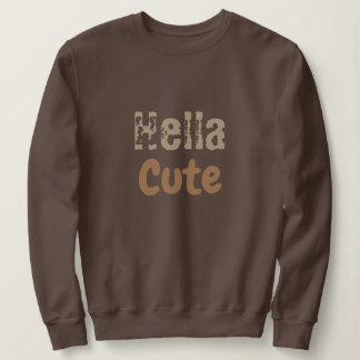 Sweatshirt Hella cute brown