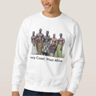 Sweatshirt, Ivory Coast, West Africa, 5 Warriors Pull Over Sweatshirts
