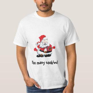 sweatshirt Santa sick cartoon  Too many cookies!