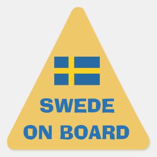 Swede On Board Triangle Sticker