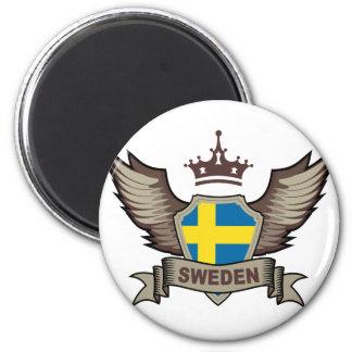 Sweden 6 Cm Round Magnet