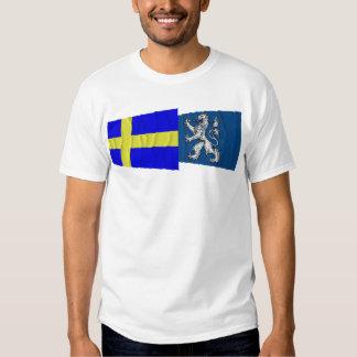 Sweden and Hallands län waving flags Shirt