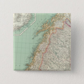 Sweden and Iceland 15 Cm Square Badge