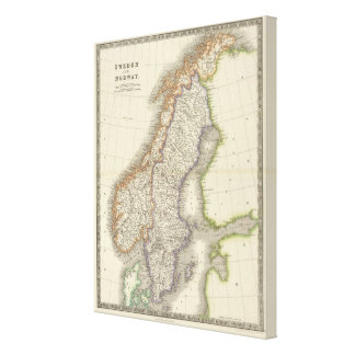Sweden and Norway 10 Canvas Print