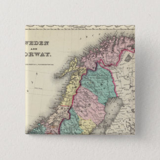 Sweden And Norway 15 Cm Square Badge