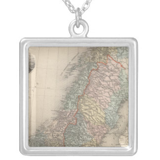 Sweden and Norway 2 Silver Plated Necklace