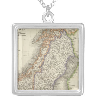 Sweden and Norway 6 Silver Plated Necklace