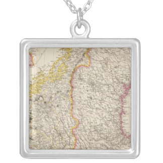 Sweden and Norway 7 Silver Plated Necklace