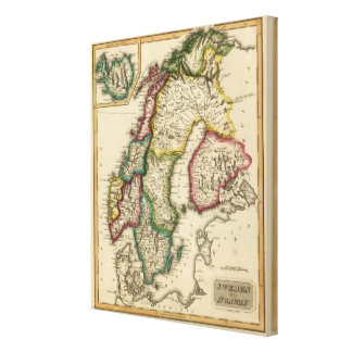 Sweden and Norway 8 Canvas Print