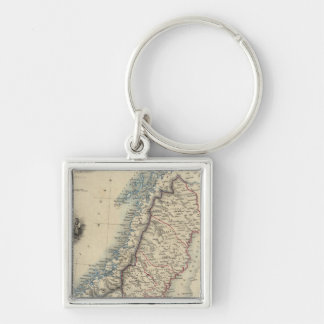 Sweden and Norway 8 Key Ring
